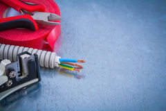 Nippers electric wire protection cables strippers insulation adh Royalty Free Stock Image
