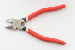 Nippers with rubber handles, close up Stock Photography