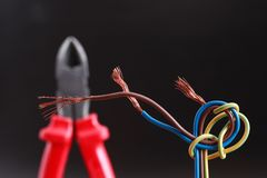 Nippers And Wire Stock Image