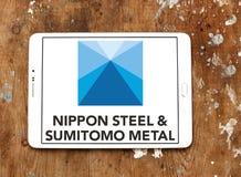 Nippon χάλυβας & λογότυπο εταιριών μετάλλων Sumitomo Στοκ Φωτογραφίες