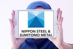 Nippon χάλυβας & λογότυπο εταιριών μετάλλων Sumitomo Στοκ Εικόνα