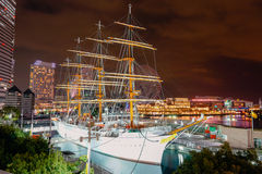 Nippon Maru Boat in Yokohama. YOKOHAMA, JAPAN - November 24 : Nippon Maru Boat in Yokohama, Japan on MAY 19, 2016. Nippon Maru Ship was a training ship for the Stock Image
