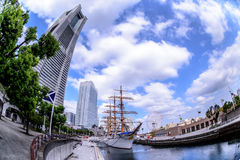 Nippon Maru at Minato Mirai in Yokohama Stock Photo