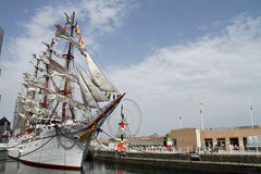 Nippon maru, sailing ship in yokohama. Japan Royalty Free Stock Images