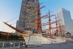 Nippon Maru in Yokohama, Japan. YOKOHAMA, JAPAN - NOVEMBER 24 2015: Nippon Maru was built in 1930, a retired sailing ship which permanently docked at Minato Stock Photography