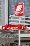 Nippon Rent-A-Car. TOKYO, JAPAN - APRIL 13, 2012: Nippon Rent-A-Car office in Tokyo. Nippon Rent-A-Car is one of oldest car rental companies in Japan (founded Royalty Free Stock Photography