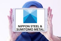 Nippon Steel & Sumitomo Metal Corporation logo Stock Image