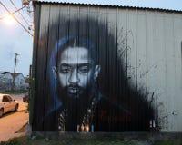 Nipsey Hussle comportant mural par Ponchaveli à Dallas, le Texas photos libres de droits
