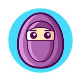 Niqab Icon Vector Royalty Free Stock Photography