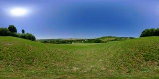 Niraj dallandskap i sommar, MureÈ™ län, Transylvania, Rumänien Arkivfoto