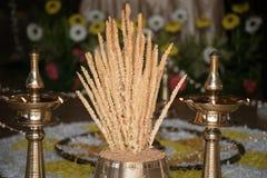 Nirapara à la cérémonie de mariage de Malayalee Images stock