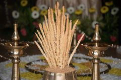 Nirapara at Malayalee wedding ceremony Stock Images