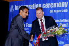 Nirav给花束的Bhansali保罗Rowley 免版税库存照片