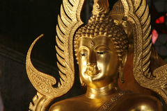 Nirvana. A Buddha picture in Wat at Thailand Stock Images