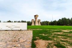 Nis的,塞尔维亚布巴尼纪念公园 库存照片
