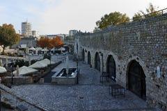 NIS,塞尔维亚2017年10月21日:从堡垒的Nis城市全景  免版税图库摄影