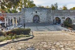 NIS,塞尔维亚2017年10月21日:堡垒和公园里面看法在Nis城市 免版税库存图片