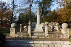 NIS,塞尔维亚2017年10月21日:对尼亚兹米兰的纪念碑在Nis城市堡垒  免版税库存图片