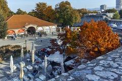 NIS,塞尔维亚2017年10月21日:Nis和堡垒城市全景  库存照片