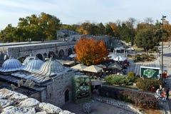 NIS,塞尔维亚2017年10月21日:Nis和堡垒城市全景  图库摄影