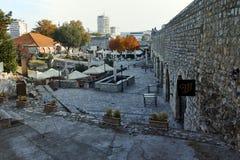 NIS,塞尔维亚2017年10月21日:Nis和堡垒城市全景  免版税库存图片