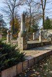 NIS, SÉRVIA 21 DE OUTUBRO DE 2017: Monumento a Kniaz Milão na fortaleza da cidade do Nis Imagem de Stock Royalty Free