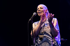 Patti Austin live at Nisville Jazz Festival, August 10. 2017 Royalty Free Stock Image