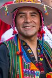 Portrait of Bolivian man in traditional national folk costume stock images