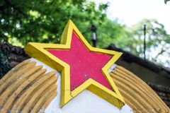 Communist red star sign of ex Yugoslavia country