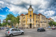 Center of town Nis from Serbia. Nis, Serbia May 17, 2017: Center of town Nis from Serbia Royalty Free Stock Photo