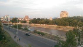 Nis Serbia quay Fotografia Royalty Free