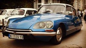 Nis Serbien - Oktober 08, 2016: Citroenen DS tillverkades och marknadsfördes från 1955 till 1975 DSEN var bekant för dess aerodyn Fotografering för Bildbyråer