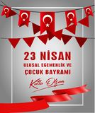 Vector illustration of the cocuk bayrami 23 nisan , translation: Turkish April 23 National Sovereignty and Children`s Day. vector illustration