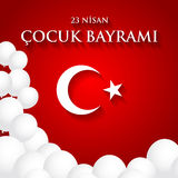 23 nisan cocuk baryrami. Translation: Turkish April 23 Children`. S Day. Vector illustration Stock Photo