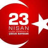 23 nisan cocuk baryrami. Translation: Turkish April 23 Childrens day. Vector illustration Royalty Free Stock Image