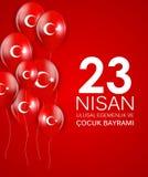 23 nisan cocuk baryrami. Translation: Turkish April 23 Childrens Day Vector Illustration. EPS10 Royalty Free Stock Images