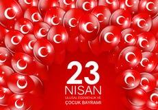 23 nisan cocuk baryrami. Translation: Turkish April 23 Childrens Day Vector Illustration. EPS10 Stock Photo