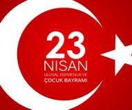 23 nisan cocuk baryrami. Translation: Turkish April 23 Childrens Day Vector Illustration. EPS10 Royalty Free Stock Image