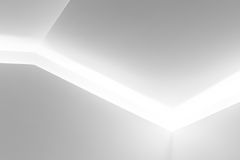 Nischdesign med ljus inre belysning Fotografering för Bildbyråer