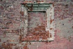 Nische in der alten Backsteinmauer Stockfotografie