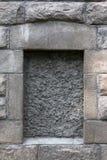 Nische in einer Steinwand Stockbild