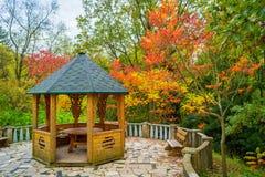 Nische im Herbstgarten Lizenzfreies Stockfoto