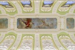Nischni Nowgorod, Russland - 03 11 2015 Dekoration der Decke und der Wände im Museumszustand Rukavishnikov Stockfotos