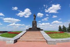 Nischni Nowgorod, Russland am 20. Juli 2013 Valery Chkalov-Monument Lizenzfreie Stockbilder