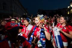 Nischni Nowgorod, Russland Juni 2018: Fußballfane kamen zu Nischni Nowgorod für den Weltcup stockbild
