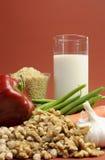 Niscy gi jedzenia dla zdrowej ciężar straty odchudzającej diety. Pionowo. Zdjęcia Stock