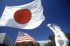 Nisei japansk festival i lilla Tokyo, Los Angeles, CA Arkivfoto