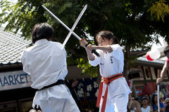 Nisei Week Martial Arts Demo Royalty Free Stock Photography