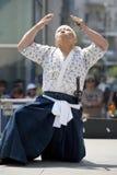 Nisei Week Swordsman Stock Photo
