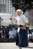 Nisei Week Swordsman Royalty Free Stock Image